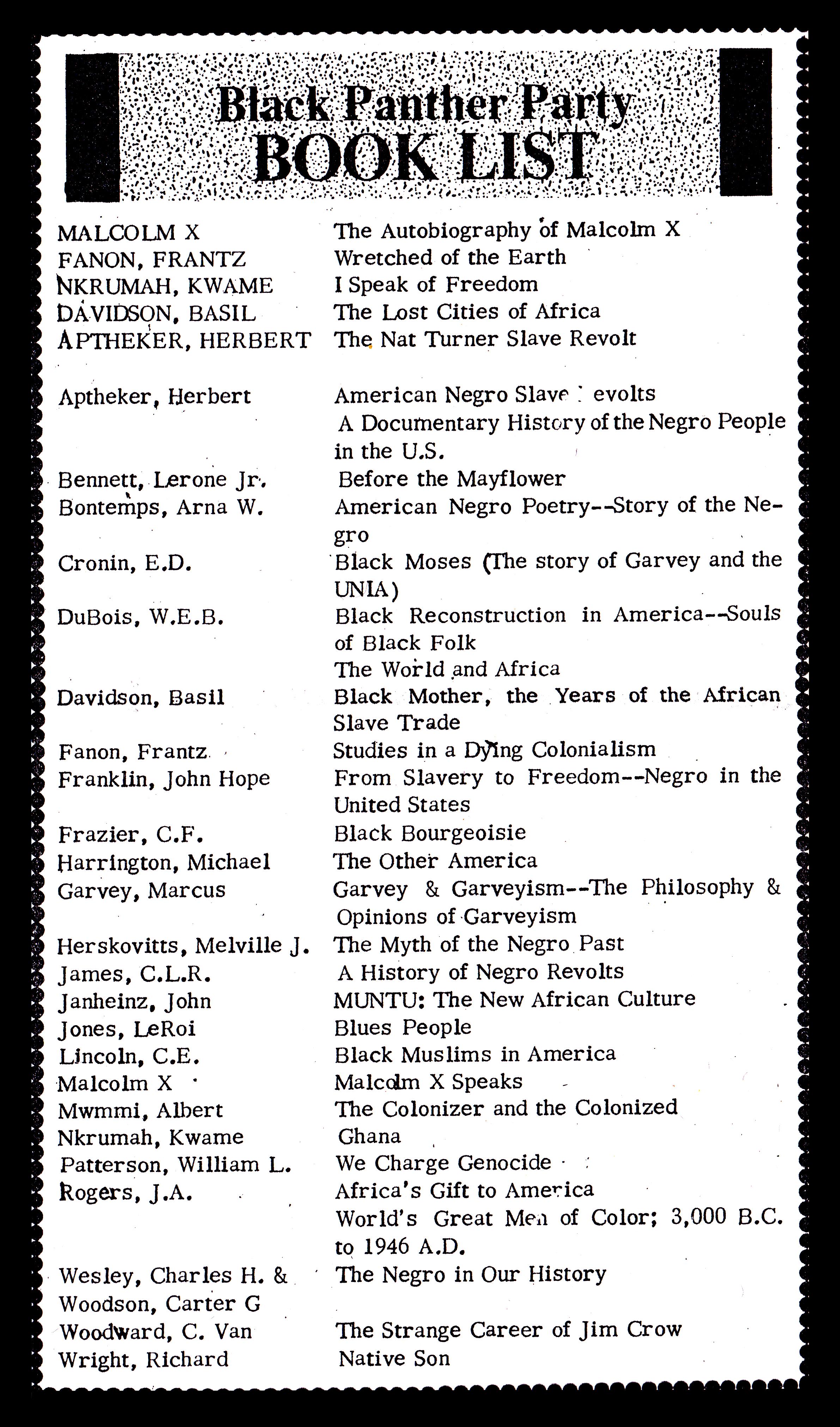 author book lists authorm