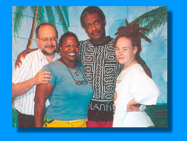 1. Eddie Conway, Celo, Ron, Amjeriia - 2. Bob Rush, Rennie, Billy X (30th yr reunion 1996)